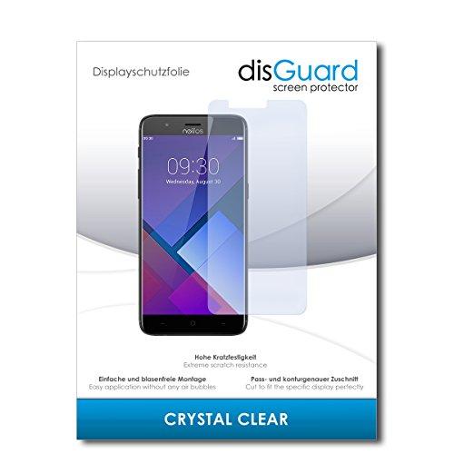 disGuard® Bildschirmschutzfolie [Crystal Clear] kompatibel mit TP-Link Neffos N1 [2 Stück] Kristallklar, Transparent, Unsichtbar, Extrem Kratzfest, Anti-Fingerabdruck - Panzerglas Folie, Schutzfolie