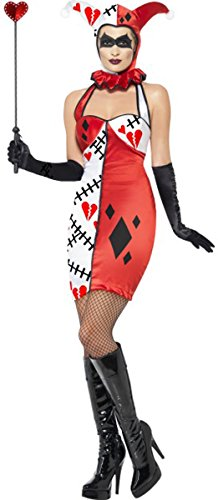 n weiblich Cirque Sinister Jester of Broken Hearts Kostüm Fancy Kleid ()