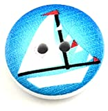 10 maritime Kinder Holz Knöpfe verschiedene Motive Naive Malerei 20mm Knopf DIY (Schiff)