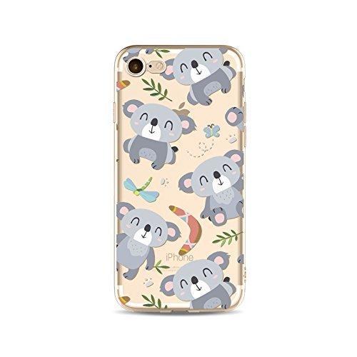 Schutzhülle iPhone 7Schutzhülle étui-case transparent Liquid Crystal TPU Silikon klar, Schutz Ultra Slim Premium, Schutzhülle Prime für Iphone 7-koala 19