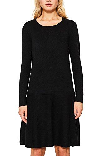 ESPRIT Damen Kleid 107EE1E004 Schwarz (Black 001), X-Large