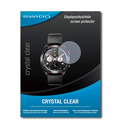SWIDO Schutzfolie für Huawei Watch Magic [2 Stück] Kristall-Klar, Hoher Härtegrad, Schutz vor Öl, Staub & Kratzer/Glasfolie, Bildschirmschutz, Bildschirmschutzfolie, Panzerglas-Folie