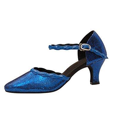 Ruhe @ Damen Tanzschuhe paillette Latin/moderne Sandalen/Heels Heel Professional/innen blau Blau