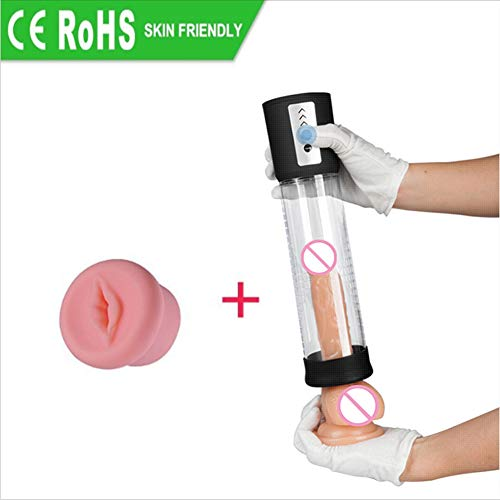 Faker Penis Vakuumpumpe mit Video-Extender Erweiterung Exerciser Wasserdicht Erwachsene Penis-Extender Erweiterung Maschine for Männer