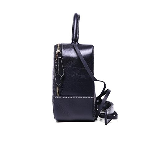 DJB/ Leder Frau Retro-gegerbtem Leder Damen Laptop-Taschen geschleudert die kleine Party-Tasche Black