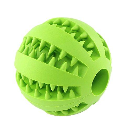Hund Spielzeug, ungiftig bissfest Gummi Spielzeug B?lle, Chew Training Zahn Reinigungskugel (gr¨¹n) -