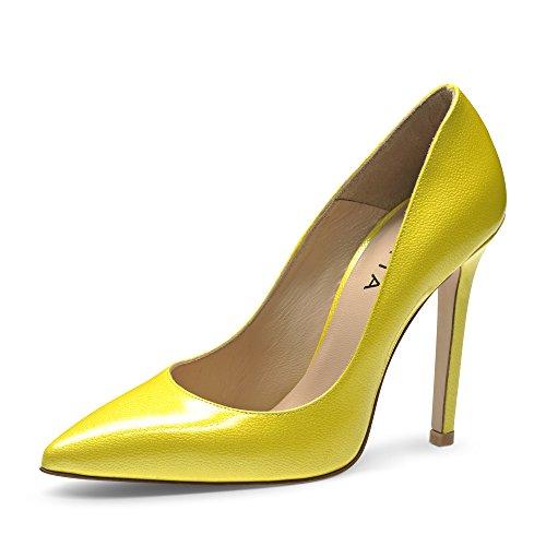 Evita Shoes Mia Scarpe col tacco donna vernice con rilievo Gelb