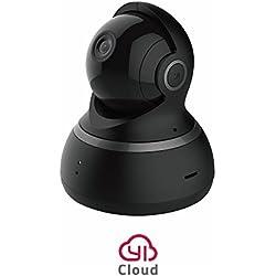 YI Cámara Domo 1080p HD Pan / Tilt / Zoom inalámbrico de seguridad IP Sistema de Vigilancia-NEGRO-Versión Europea- Detección de movimiento-Monitor de bebes-servicio de nube es disponible, Negro