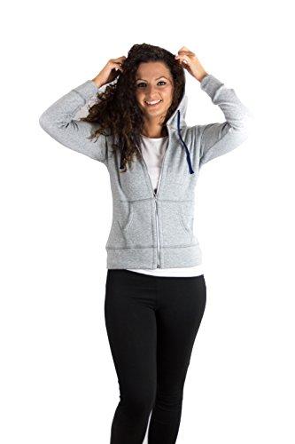 Damen Kapuzenjacke aus hochwertigem und weichem Material made in EU Grau