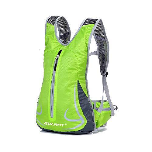 EULANT Zaini per Viaggio, Zaini da Trekking, Impermeabile Zaino Sport, Ultraleggero Unisex Casuale Zaino per Alpinismo Escursionismo Esecuzione Ciclismo Scuola Equitazione, Verde