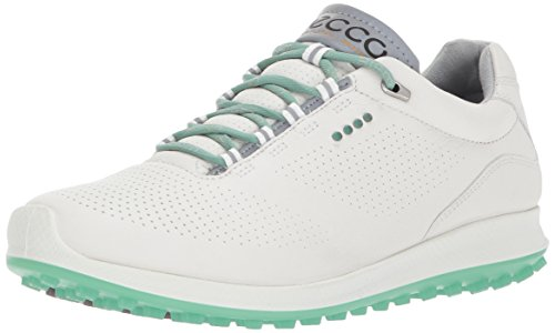 ECCO Damen Women\'s Golf Biom HYBRID 2 Golfschuhe, Weiß (White/Granite Green), 39 EU