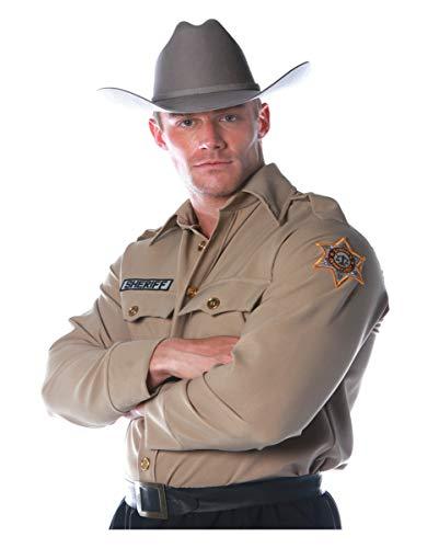 Horror-Shop Sheriff Shirt Kostüm als Berufskostüm für Fasching