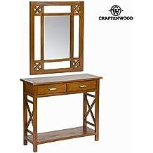 Console ingresso rustico con specchio - Serious Line Collezione by Craften Wood (1000026166)