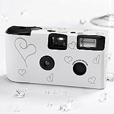 10 Hochzeitskameras Einwegkameras, weiss