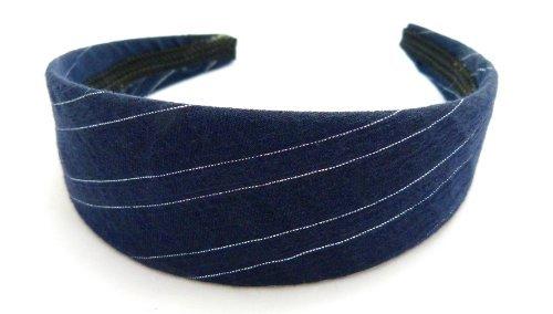 Serre-tête classique Bleu foncé avec bande zartem Argent o63