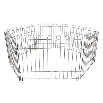 Welpen Haustier Laufstall, 6 Panel Indoor Outdoor Metall tragbare Falttier Übung Hund Zaun -