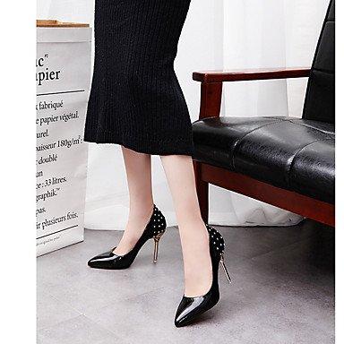 LYNXL scarpe Shallow bocca a spillo con posto di lavoro pendolarismo scarpe di matrimonio ha sottolineato Red