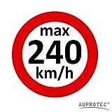 Geschwindigkeitsaufkleber Winterreifen Aufkleber 160 - 240 km/h Auswahl: (5 Stück, 240 km/h)