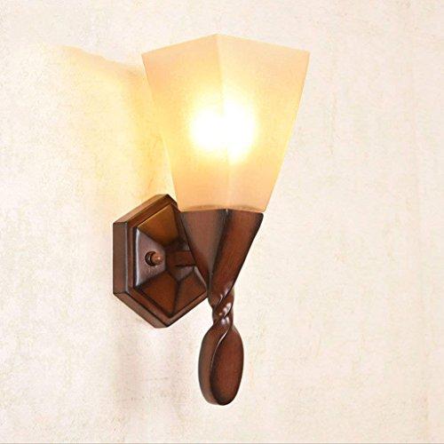 Specchiera frontale, stile americano retro lampada da parete lampada da terra lampada da parete lampada da parete in legno d'aspetto lampade da parete di fondo lampada da comodino faro frontale specchio luci navali impermeabile, anti-appannamento
