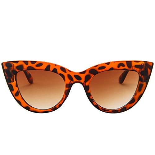 CHOULI Mode Retro cat Eye Sonnenbrille Trendige Wilde Sonnenbrille Frauen Sonnenbrille Leopard Tee