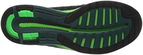 Asics Fuzex, Scarpe da Corsa Uomo Nero (Black/Silver/Green Gecko)