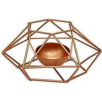 Mioloe Golden Creative Candlestick Forma Geometrica Puntelli semplici di tiro Ornamenti poligono