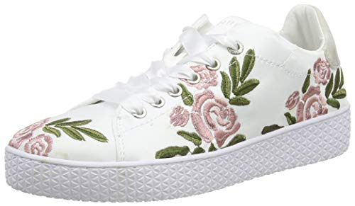 bugatti Damen 431525096959 Sneaker, Mehrfarbig (White/Multicolour 2081), 36 EU