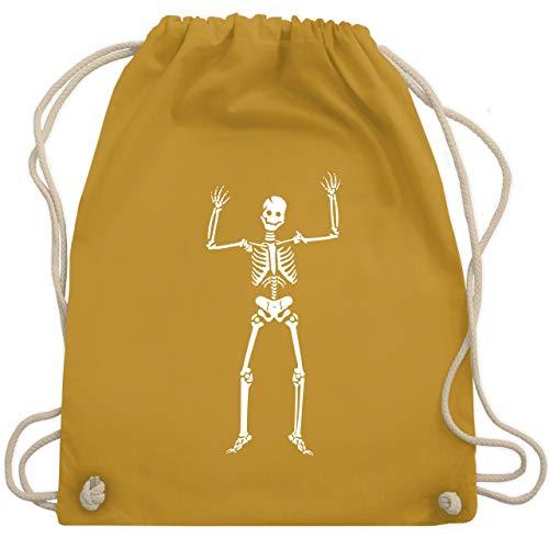 Halloween - Skelett Skeleton - Unisize - Senfgelb - WM110 - Turnbeutel & Gym Bag (Halloween Blaze Große)