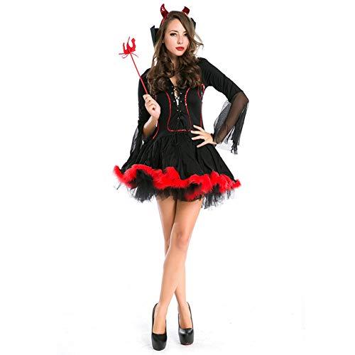 Mädchen Damen Fasching Party Halloween Kostüm Kleid Teufel Cosplay Bekleidung Set