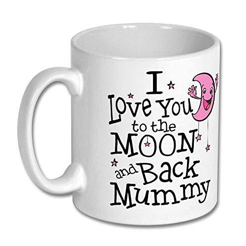 I Love You To The Moon And Back Mummy Pink Moon Birthday Christmas Mother's Day Gift Mug