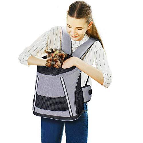 Petcomer SBC5171-B Hund Rucksack Katze Transsporttasche Haustier Tragtasche für Haustier, Einheitsgröße, grau -