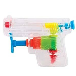 Mini pistolet à eau transparent - le petit jouet pas cher