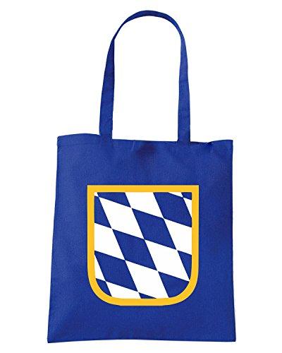 T-Shirtshock - Borsa Shopping BEER0026 bavaria flag dark tshirt Blu Royal