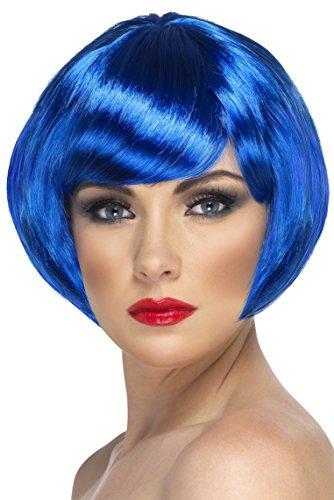 Smiffys 42046 Déguisement Femme Perruque de Bimbo, Bleu, Taille Unique