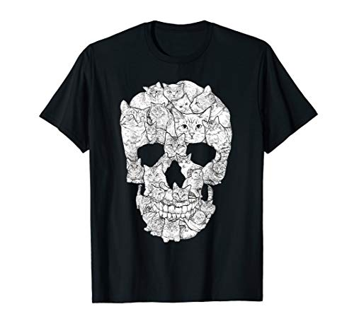 Cat Skull T-Shirt - Kitty Skeleton Halloween Costume Idea T-Shirt