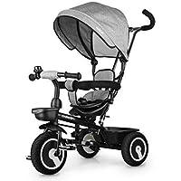 Fascol 6 en 1 Tricycle pour Enfants avec Siège Pivotant Convient pour l'âge 12 Mois - 5 Ans Couleur