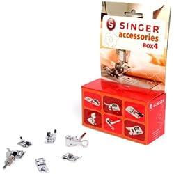 Singer Kit Accessoires N°4 - Lot de Pieds de Biche Compatibles avec les Machine à Coudre de la Marque