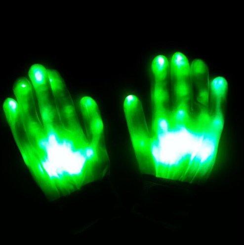 UChic 1 Paar / 2 STÜCKE LED Licht Handschuhe Flashing Finger Fäustlinge Urlaub Festival Spaß Home Party Glowing Für Leistung Requisiten Party Dekoration Lieferungen