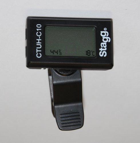 Stagg CTUH-C10 Clip Stimmgerät Tuner mit Hygrometer/Thermometer -