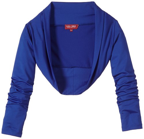 G.O.L. Mädchen Strickjacke Jersey-Bolero, Gr. 176, Blau (kobalt 10)