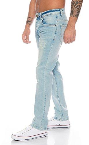 Rock Creek Herren Jeans Hose Denim Stretch Regular Fit Jeanshose Stonewashed W29-W44 RC-2109-Hellblau