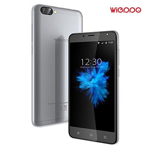 Telephone Portable Debloqué 4G, Wieppo S6 Smartphone Double SIM, 5.5 Pouces HD 1280*720 Écran, Double Caméra 8MP+5MP, 2Go RAM 16Go ROM, Batterie 3000mAh (Argenté)