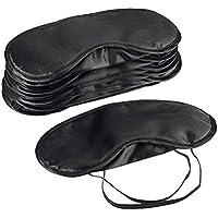 Frcolor Máscara protectora para los ojos para dormir hora de dormir máscara para el ojo noche para dormir gafas con los ojos vendados 10pcs (negro)