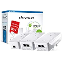 devolo Magic 2–2400 WiFi next: Ultimate Whole Home mesh WiFi kit over powerline, 4k/ 8k UHD streaming and stable home working (2400 Mbps, 5x Gb LAN ports, G.hn)
