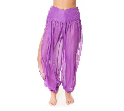 Pantalon de danse du ventre Rock übungshose Pantalon de Jogging Pantalon de sport magnifique danse du ventre Pantalon professionnel Lilas