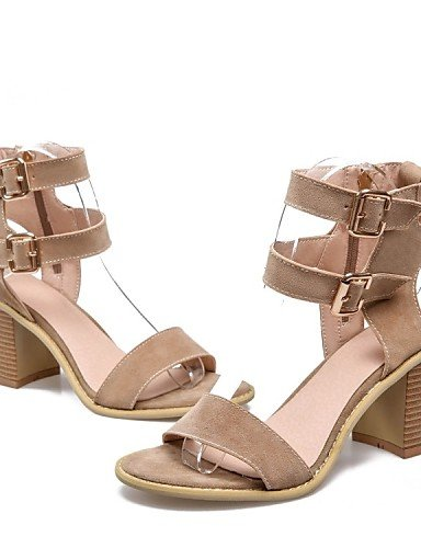 UWSZZ Die Sandalen elegante Comfort Schuhe Frau - Sandalen - Formale/casual/Abend und Fest - Fersen/Plateau - Quadrat - Pailletten/Kunstleder - Silber/Golden, golden-us7.5/EU38/uk5.5/CN 38, golden-us7 Yellow