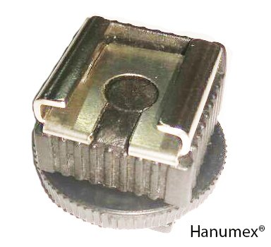 Hanumex® Microphone & LED Light Shoe Adapter Converter for Any Camcorder with Multi Interface Shoe, Like Light Stand