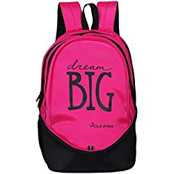Pole Star BIG 3 Compartment Polyester 36 Lt Pink Laptop/Casual Backpack school bag
