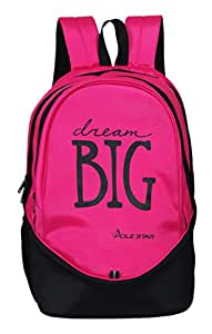 "POLE STAR Polyester ""Big-3"" 38 L Pink and Black Backpack"
