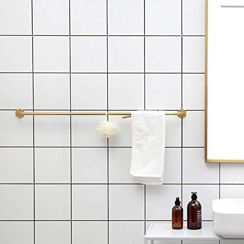 YSA Moderno Vintage Toallero de Oro Gancho Giratorio con Barra Individual Baño Europeo Cuarto de baño Toalla Vieja, Barra de Ducha, Cuarto de Ducha, Perforadora,